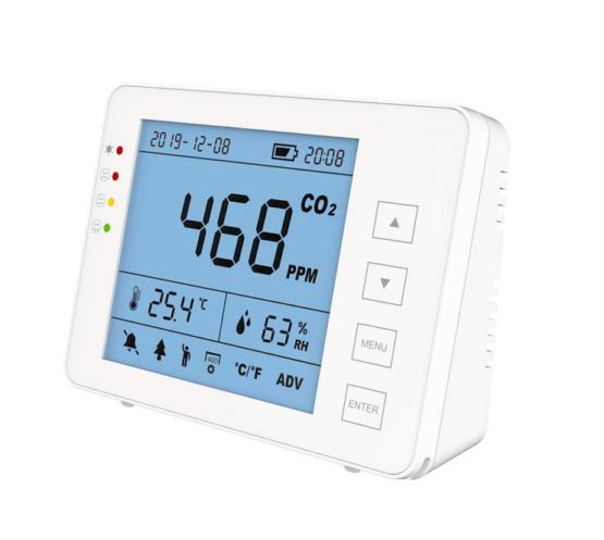 CO2 Monitor um die Luftqualität zu messen